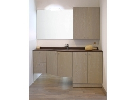 Cizeta mobili bagno arredamento su misura - Mobili bagno con lavatrice a scomparsa ...