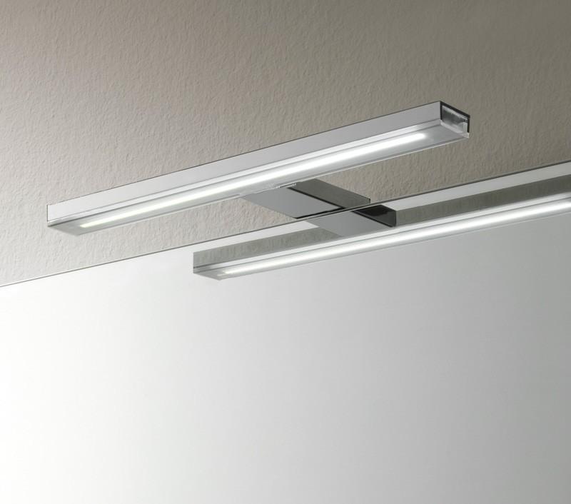 specchio led con cornice pelle 912 luci e lampade